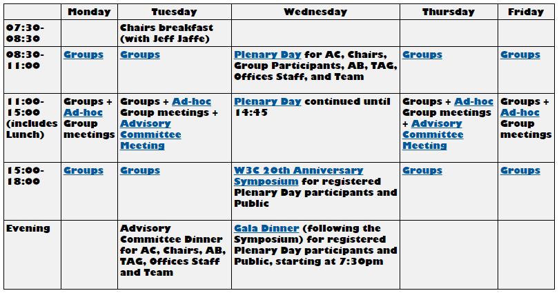 tpac 2014 schedule