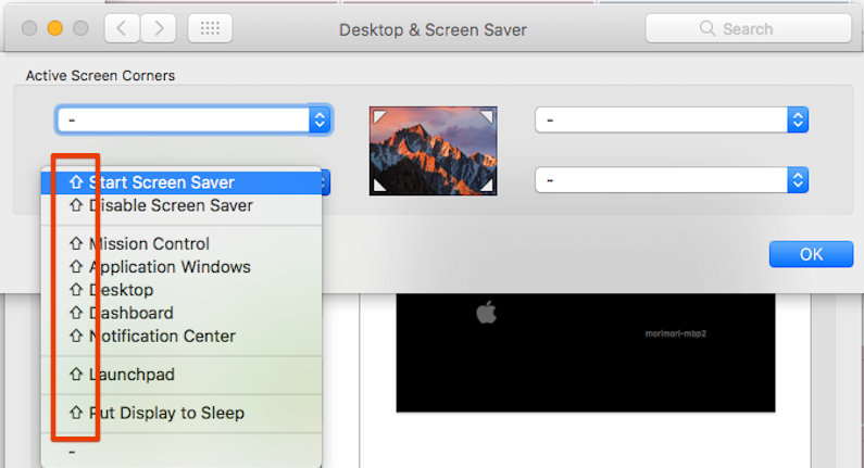 macOS標準の修飾キー付きホット...