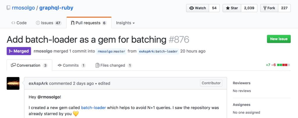 GraphQLの作者にも認められたbatch-loader