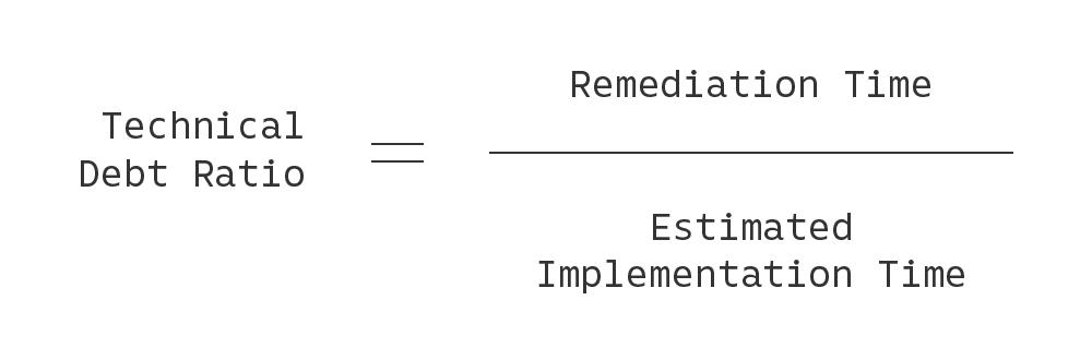 技術的負債算出の公式